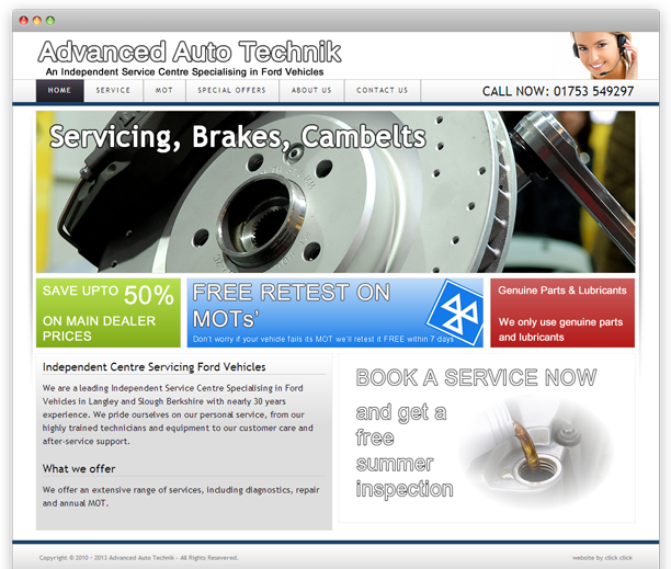 Ford Specialists - website design, WordPress CMS