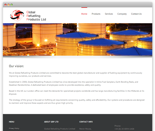 GRP Ltd - website design, WordPress CMS