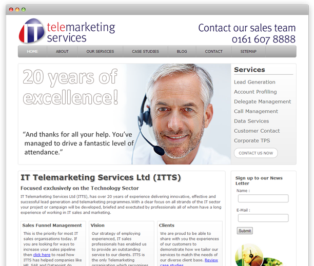 itts - website redesign