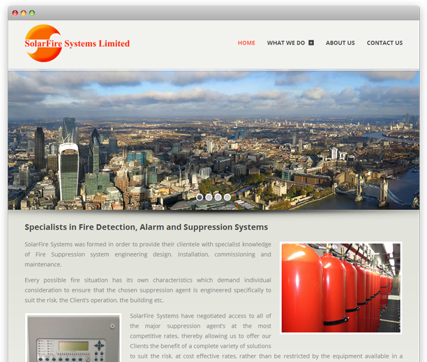 SolarFire Systems - website redesign, WordPress CMS